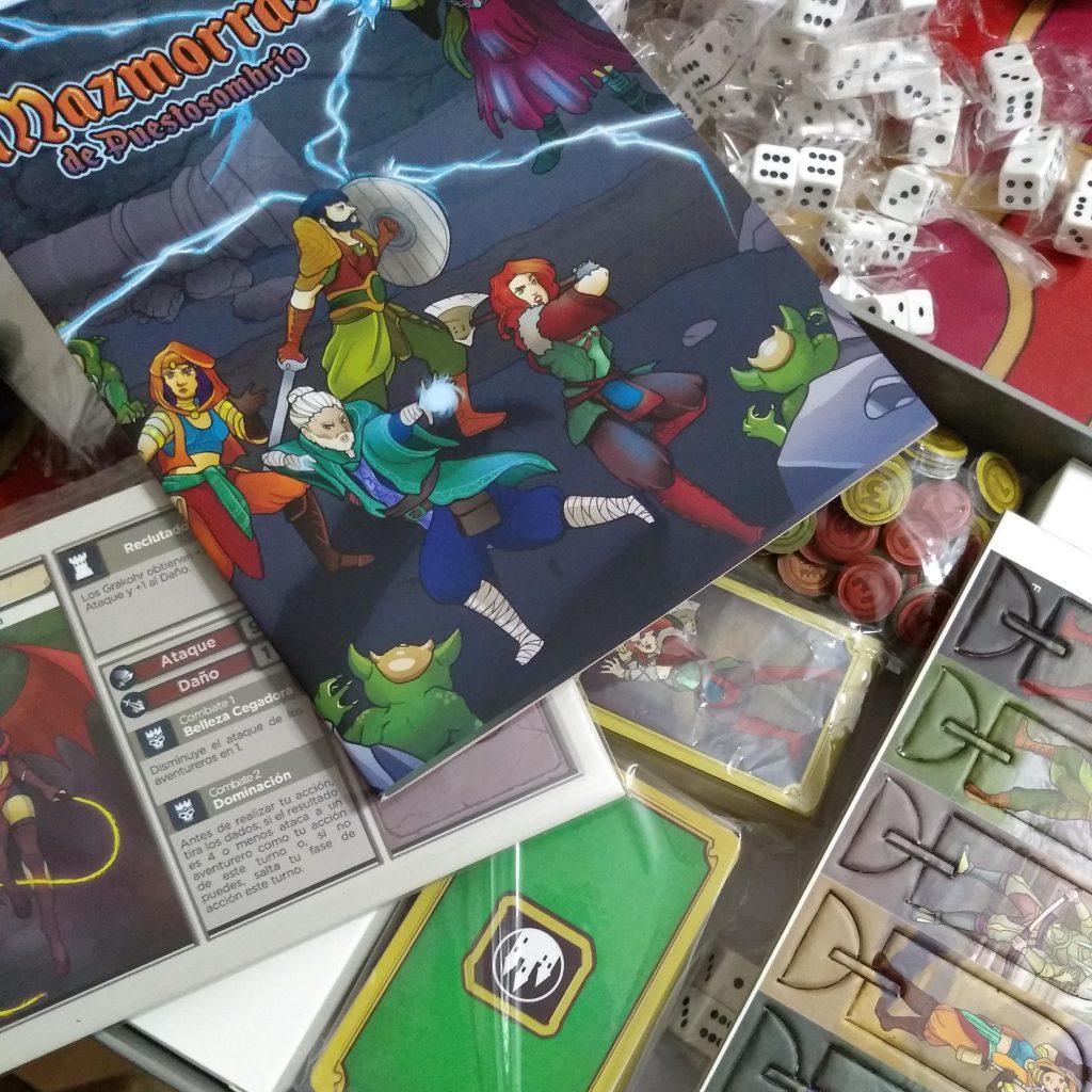 Foto del armado del juego Mazmorras de Puestosombrio